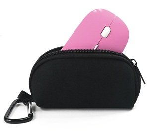Cosmos ® Pink 2.4G RF optical wireless USB mouse for macbook 13″ PRO AIR 11″ DELL ACER SONY HP TOSHIBA and Black Neoprene Magic Mouse Bag + Cosmos cable tie