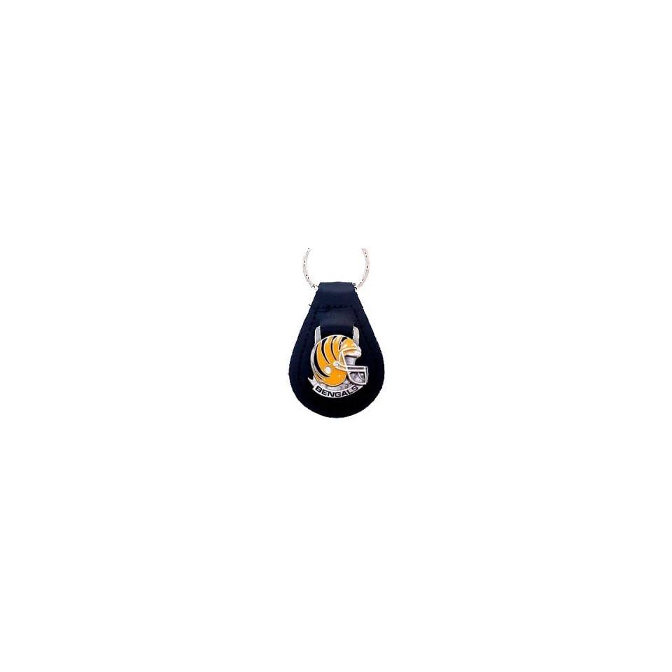 Cincinnati Bengals Small Leather Key Ring