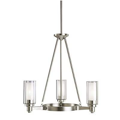 Kichler Lighting Circolo 3-Light Chandelier with Clear Glass Cylinders
