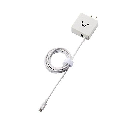 エレコム Android対応 AC急速充電器 microUSB USBポート...