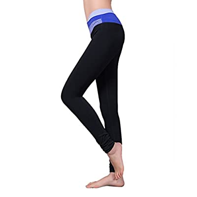 GOGO TEAM Women's Solid Mid-Rise Lounge Pants Absolute Workout Legging Tights