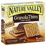 Nature Valley Dark Chocolate Granola Thins 6 oz, (pack of 3)
