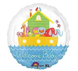 "Welcome Baby Noah'S Ark 18"" Mylar Balloon front-867824"
