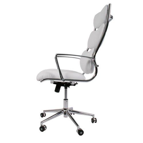 Design schreibtischstuhl  Design Schreibtischstuhl / Bürostuhl New York mit weißem Ledersitz ...