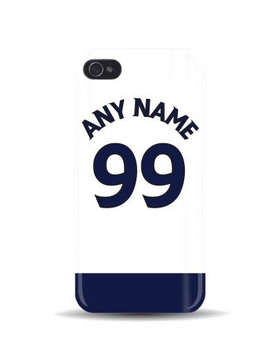iPhone 4/4S 'Tottenham Hotspur' Personalised Football Soccer Shirt 3D Phone Case Cover