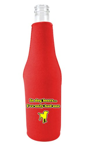 Coolie Junction Dog Beers Funny Bottle Coolie Red w/Opener (Red Solo Cup Bottle Opener compare prices)
