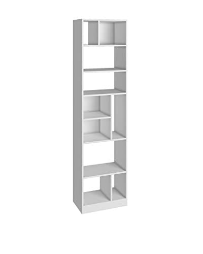 Accentuations by Manhattan Comfort Durable Valenca Bookcase 4.0, White