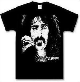 Frank Zappa T-shirt Oversize Face black tee (X-Large) [Apparel]