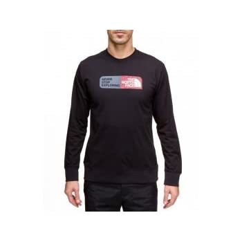THE NORTH FACE Slogan cotton Tee shirt manche longue homme t0avaa Noir