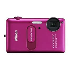 Nikon COOLPIX S1200pj 14.1 MP Digital Camera with Built-In Projector (Pink)