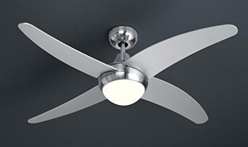 VAL1T6512407/271 - VENTILATORE A SOFFITTO CON LAMPADA METALLO CROMO INTERNO LAMPADARI VALASTRO LIGHTING