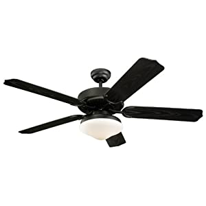 Click to buy Outdoor Ceiling Fan with Light: Monte Carlo 5WF52BKD Weatherford Deluxe 52-Inch 5-Blade Outdoor Ceiling Fan with Light Kit and Matte Black ABS Grain Blades, Matte Black from Amazon!