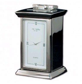 Wedding Anniversary Gift - Engraved Palladium Carriage Clock - Personalised