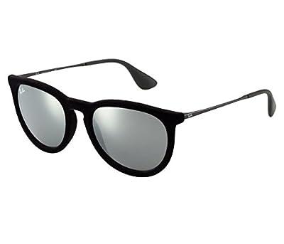 Ray-Ban Velvet Black Erika Sunglasses RB 4171 60756G 54mm + SD Glasses + Cleaner