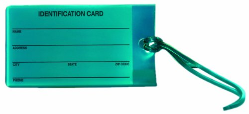 Travel Smart Jelly Luggage Tag, Teal (Pack of