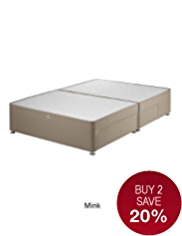 Classic Padded Divan with 2 Small + 2 Large Drawers