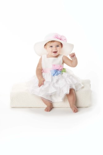 Mud Pie Baby Girls' Tiered Dress, Ivory, 6 9 Months (Mud Pie Easter 18 Months compare prices)
