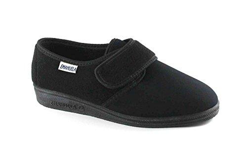 EMANUELA 601 nero pantofole donna strappo lana 40