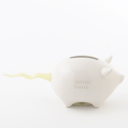 Money Talks Piggy Bank - Small Change - Sperm Bank