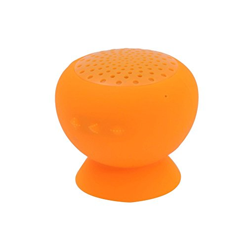 Colorworld Miniboom Portable Bluetooth Speaker Water Resistant With Built-In Microphone Wireless Waterproof Silicon Suction (Orange)