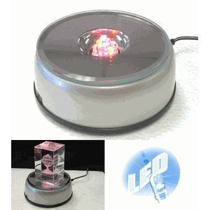 7 LED Light Stand Turntable Night Light Rotating Base for Laser Crystals Colored (Turntable 3d compare prices)