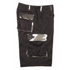 Rothco Cargo Shorts Extra Long Black/Camo Shorts XX-Large