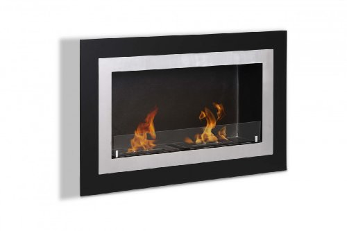 Ignis Villa Recessed Ventless Ethanol Fireplace With Glass