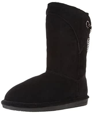 BEARPAW Women's Alexandra Snow Boot,Black,6 M US