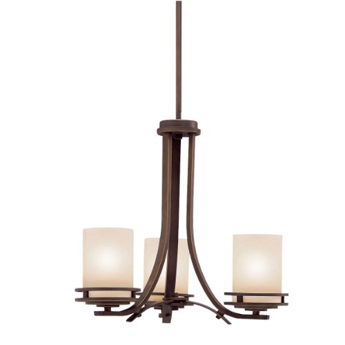 Kichler Lighting 1671OZ 3-Light Hendrik Incandescent Chandelette, Old Bronze