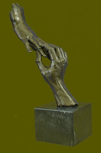 ** HANDMADE ** Rare Modern Art Two Hands By Dali Ba Collectibles Bronze Sculptures, Statues, Home & Office Decor, Prime Sale... 16