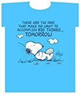Peanuts Snoopy Tee Shirt - These are the Days blue Snoopy Tshirt