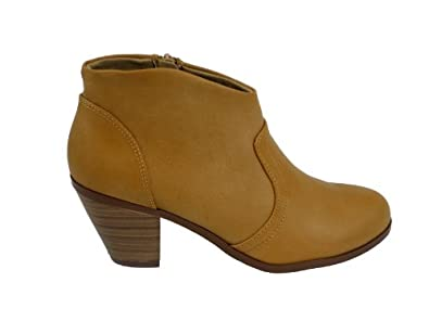 Cowboy Ankle Bootie (5.5, blond pu)