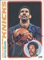 Butch Beard New York Knicks 1978 Topps Autographed Hand Signed Trading Card. by Hall of Fame Memorabilia