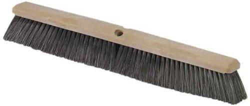 "Carlisle 362208P1803 Flo-Pac Plastic Block Sweep, Polypropylene Bristles, 18"" Length X 2-1/2"" Width, 3-1/4"" Bristle Trim, Black front-141461"