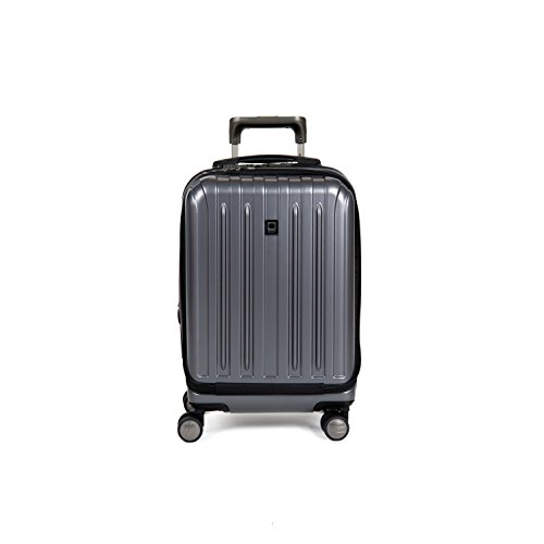 Delsey Luggage Helium Titanium International Carry-On EXP Spinner Trolley Metallic, Graphite, One Size (Delsey Luggage Helium Trolley compare prices)