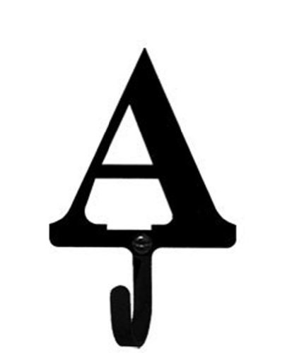 Iron Letter A Wall Hook Sm - Black Metal