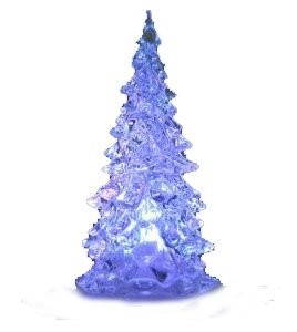 Cute Tree Style Colorful Changing LED Decoration Light Crystal Christmas Tree