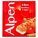 Alpen Strawberry & Yoghurt Cereal Bar 6 X 29G