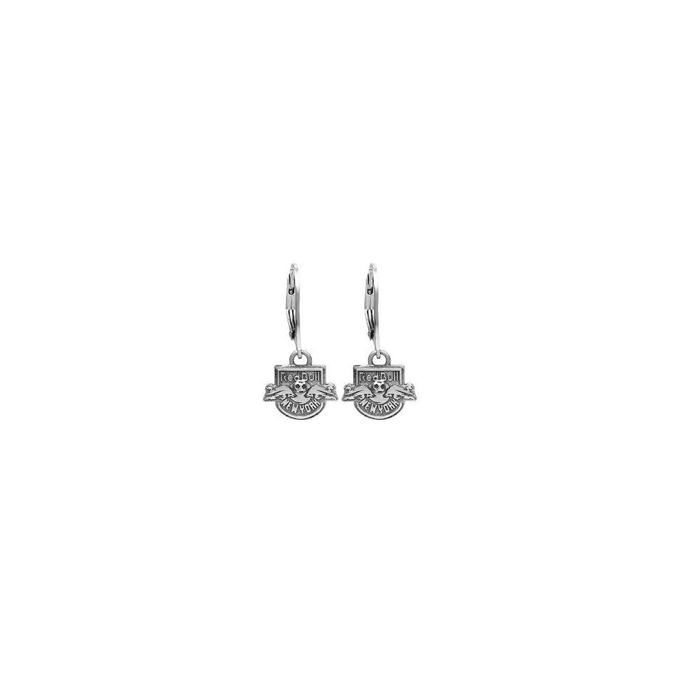 New York Red Bulls Sterling Silver Dangle Earrings