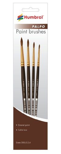 Humbrol AG4250 Palpo Paint Brushes Sizes 000,0,2,4 - 1
