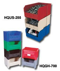 Quantum Storage Systems, Stack & Hang Totes, Hqus-260, Outside Size L X W X H: 18 X 11 X 10\