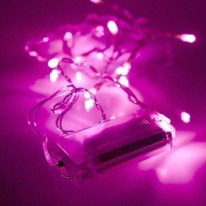 20 Batteriebetriebene Rosa LED Lichterkette - Weihnachten / Hochzeit / das ganze Jahr