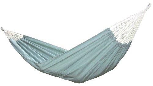 Vivere Brazilian Style Sunbrella Double Hammock, Celeste front-675526