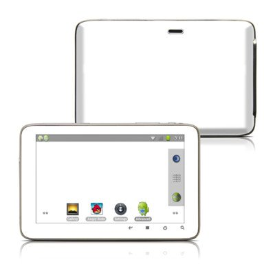 Solid State White Design Protective Decal Skin Sticker For Latte Ice Smart 5 Inch Hd Smart Media Tablet front-539698