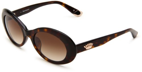 Juicy Couture Women's Juicy 500/S Oval Sunglasses,Brown Frame/Brown Gradient Lens,One Size