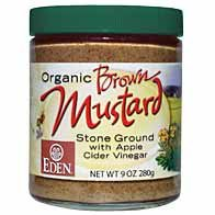 Organic Brown Mustard - 9 oz. glass jar