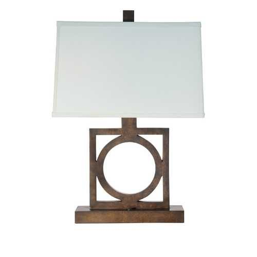 Square Console Table Lamp from Destination Lighting