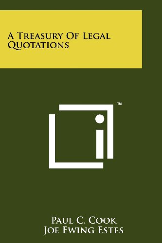 A Treasury of Legal Quotations
