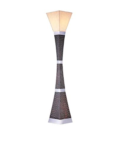 ORE International 1-Light Torcher Lamp, Dark Brown