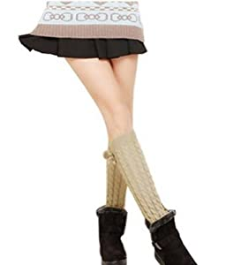 ATM FashionWorld Fashion Soft Long over Knee High Leg Thick Winter Knit Crochet Hosiery Socks(Length 16.5
